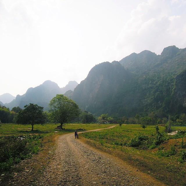 Biking in Vang Vieng Laos